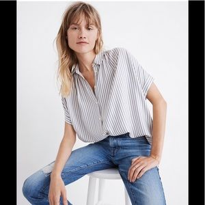 Madewell Stripe Button-down Top